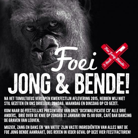 Presentatie Diskwalificatie CD van de FOE JONG BENDE