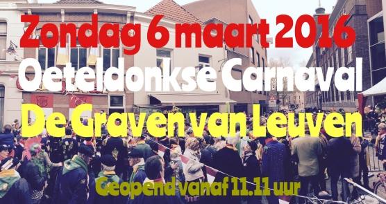 Zondag 6 maart gewoon een extra dag Carnaval!